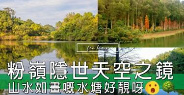 山水如畫嘅水塘好靚呀!粉嶺流水響,香港嘅隱世天空之鏡!