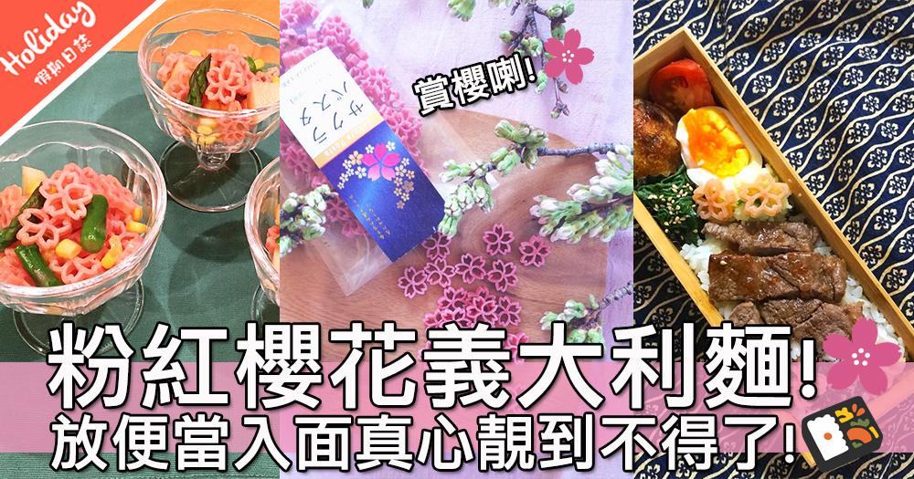 餐桌上賞櫻~超夢幻粉紅粉紅櫻花義大利麵!整沙律整湯整便當都可以㗎~