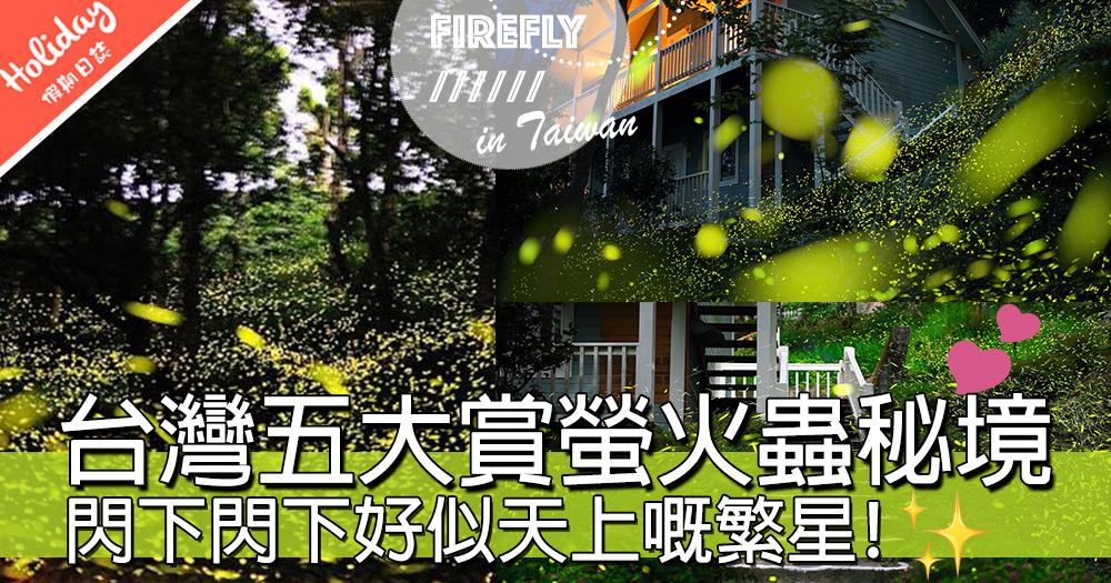 點蟲蟲,蟲蟲飛~~台灣TOP 5最佳睇螢火蟲秘境,超震撼光影大薈演!!