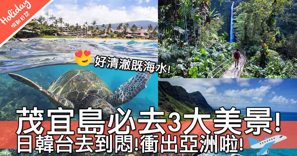 今個夏天去夏威夷啦!山谷之島茂宜島必去3大美景~全美最美沙灘真心超級靚!