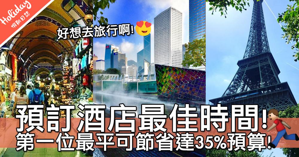 搶平酒店喇!知名旅遊網站公布「預訂酒店最佳時間」~最平可節省達35%預算!