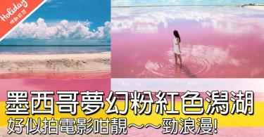 嘩~~天堂靚景!墨西哥超夢幻粉紅色潟湖Las Coloradas,你會想同邊個去呢?