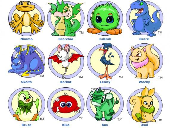 尼奧寵物有多款寵物供玩家選擇,每個玩家只可開設5個帳戶。