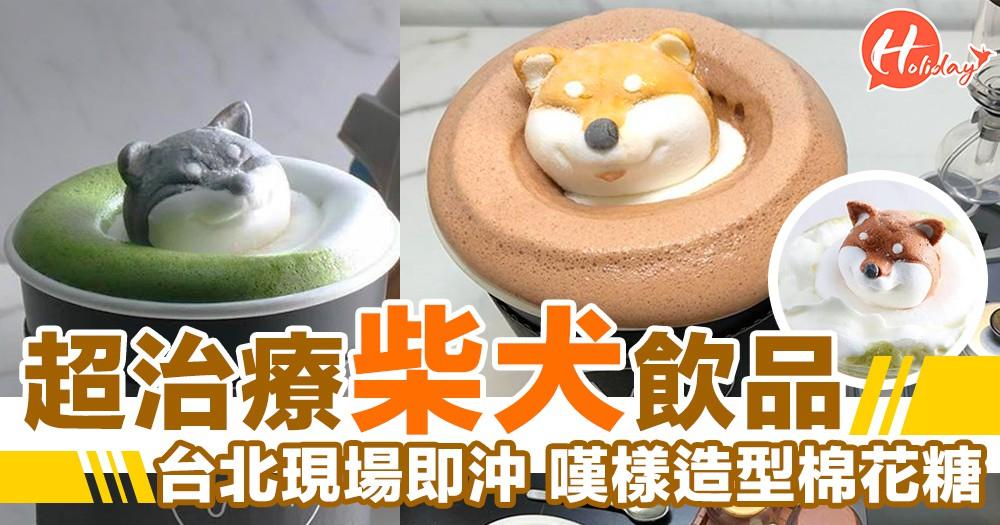 迷你柴犬棉花糖!台北特色手沖飲品店~嘆樣超治療