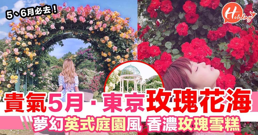 5、6月必到!東京近郊玫瑰花海 英式貴族庭園風 仲有香濃玫瑰雪糕!