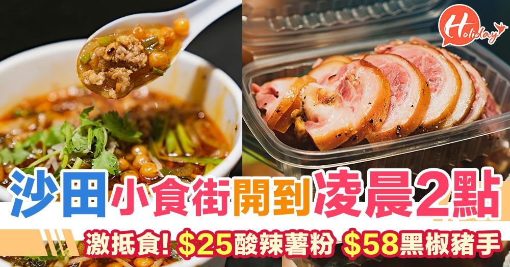 沙田小食街開到凌晨2點 激抵食! $25酸辣薯粉/$58黑椒豬手