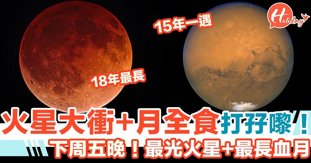下周五晚留意!本港夜空將現15年一遇火星大衝+18年最長月全食!
