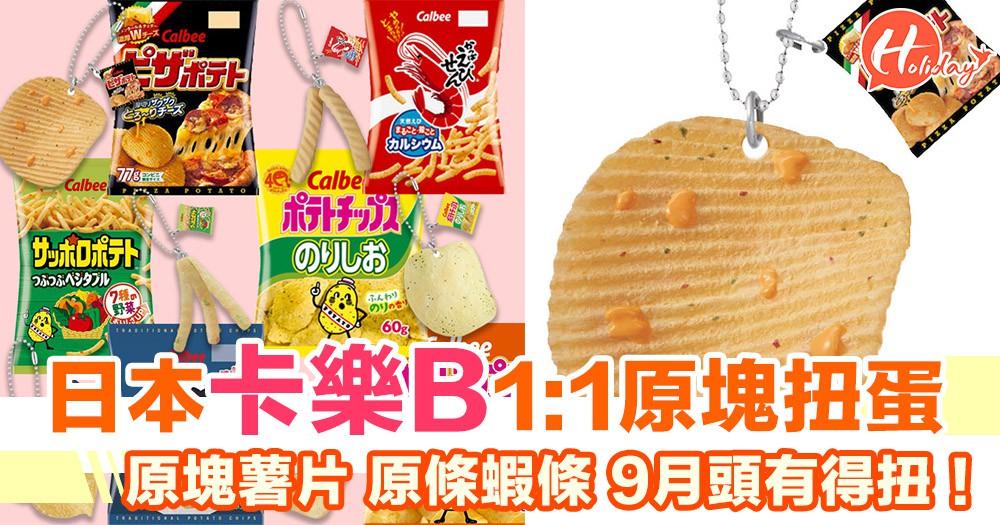 日本卡樂b 1:1鎖匙扣  原塊薯片原條蝦條 一系列6款零食