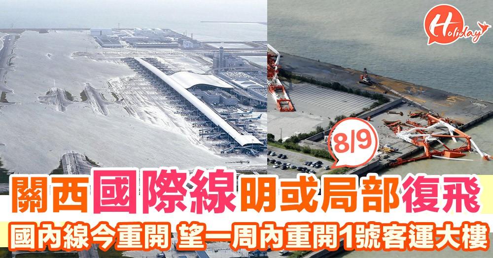 日本關西機場公司高層:關西機場國際線有望明日(8日)復飛