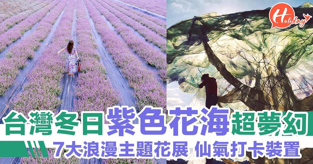 台灣冬日紫色花海超浪漫!愛情主題7大展區,仙氣裝置打卡必到!